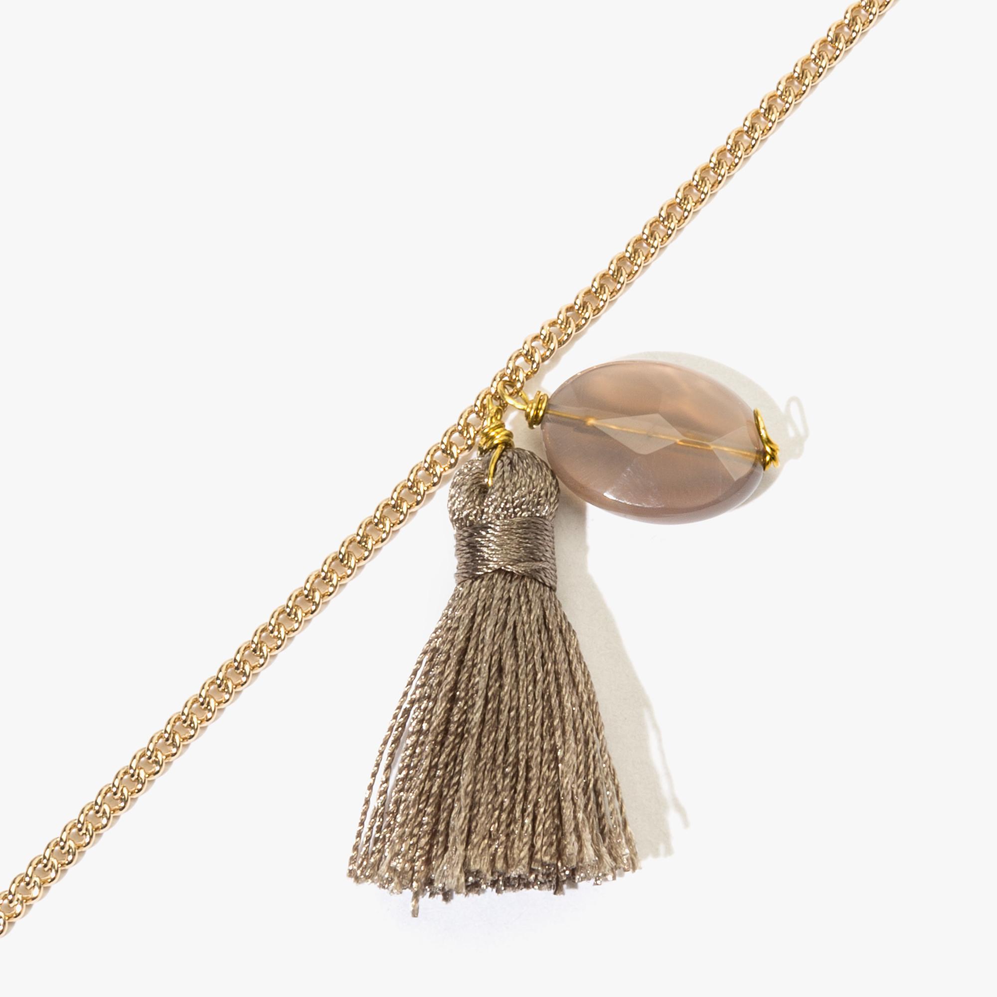 Sliver and crystal bracelet
